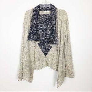 Hazel Cardigan Sweater Open Front- S